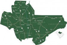Map showing areas served by the Olde English District